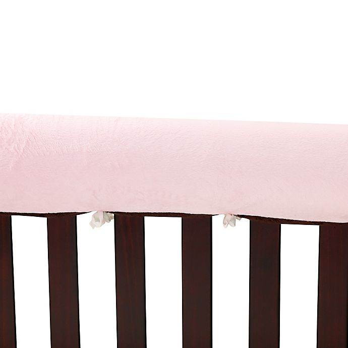 Alternate image 1 for Go Mama Go  52-Inch x 12-Inch Luxurious Minky Teething Guards in Pink/Chocolate
