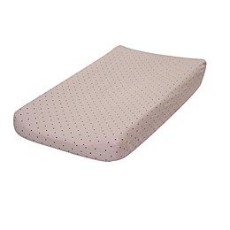 Go Mama Go Designs® Classic Cotton Dot Changing Pad Cover in Pink/Chocolate