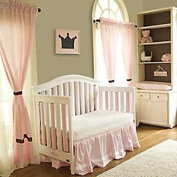 Go Mama Go® Designs Polka Dot Window Panels in Chocolate/Pink (Set of 2)