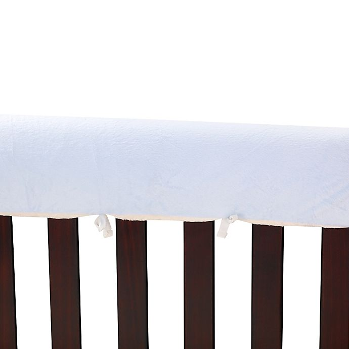 Alternate image 1 for Go Mama Go  52-Inch x 12-Inch Luxurious Minky Teething Guards in Blue/Cream