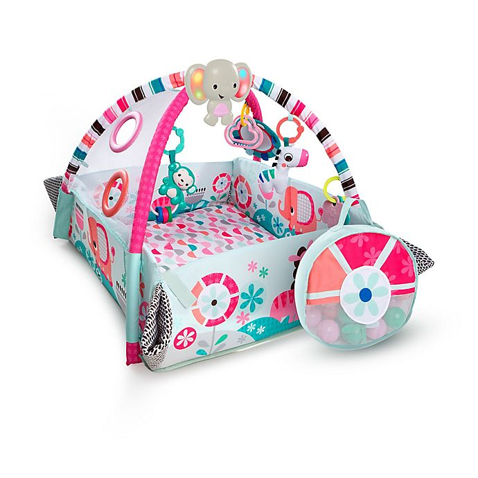 Alternate image 1 for Bright Starts 5 in1 Your Way Ball Play Activity Gym in Pink