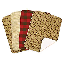 Trend Lab® 4-Pack Northwoods Burp Cloths