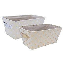 Closet Complete Metallic Canvas Diaper Caddy