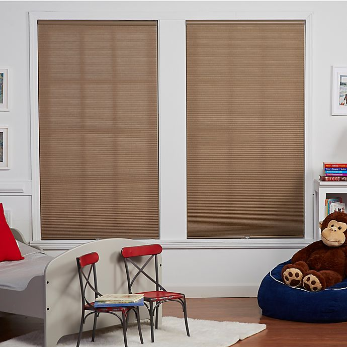 Alternate image 1 for Baby Blinds Cordless Cellular Light Filtering Shade in Oat