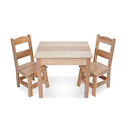 Melissa and Doug® Wooden 3-Piece Table and Chair Set