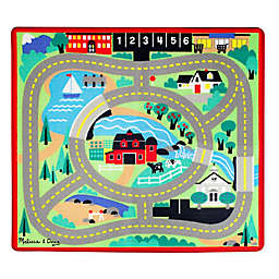 Melissa and Doug Round The Town 39-Inch x 36-Inch Rug and Car Set