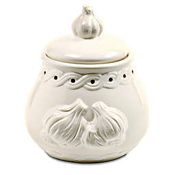 Norpro® Stoneware Garlic Keeper in White