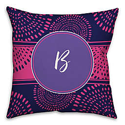 Boho Tribal 18-Inch Square Throw Pillow in Purple/Pink