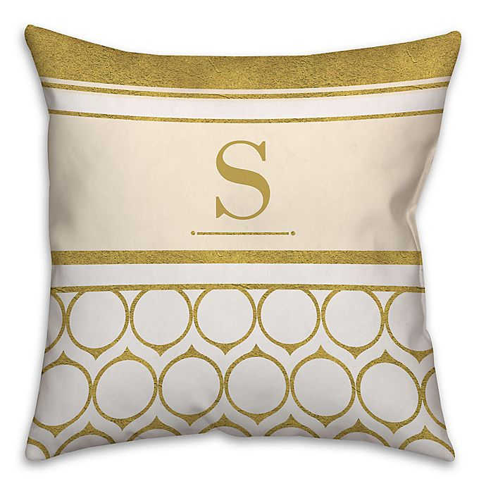 Alternate image 1 for Golden Rings 16-Inch Square Throw Pillow