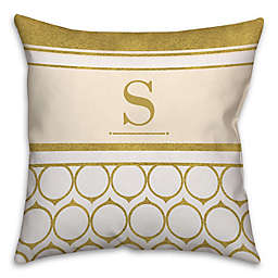 Golden Rings Square Throw Pillow