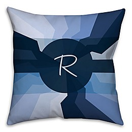 Spiral Square Throw Pillow in Navy