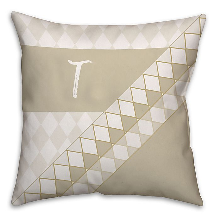 Alternate image 1 for Neutral Diamond 16-Inch Square Throw Pillow