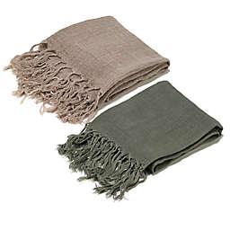 Aura Open Weave Throw Blanket