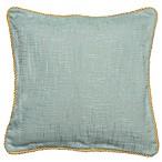 Vena 20-Inch Square Throw Pillow in Aqua
