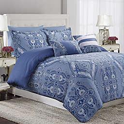 Tribeca Living Atlantis Reversible Duvet Cover Set in Blue