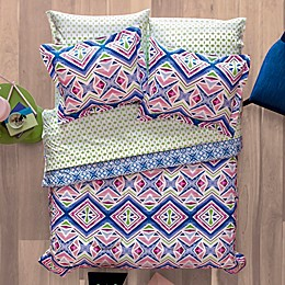 Aéropostale Kaleidoscope 7-Piece Reversible Comforter Set in Pink/Blue