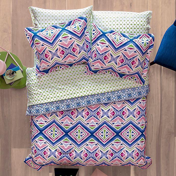 Alternate image 1 for Aéropostale Kaleidoscope 7-Piece Reversible Full Comforter Set in Pink/Blue