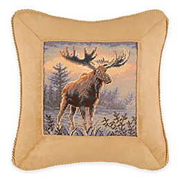 Northwoods Moose Square Throw Pillow