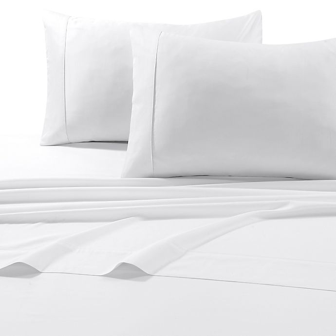 Alternate image 1 for Tribeca Living 600-Thread-Count Cotton Standard Pillowcases in White(Set of 2)