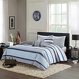 Intelligent Design Paul Full/Queen Coverlet Set in Blue