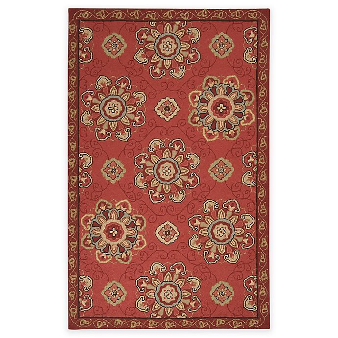 Alternate image 1 for Surya Kelly 5-Foot x 8-Foot Indoor/Outdoor Area Rug in Rust