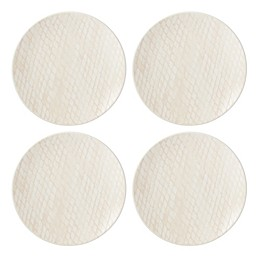 Lenox® Textured Neutrals™ Dinner Plates in Blush (Set of 4)