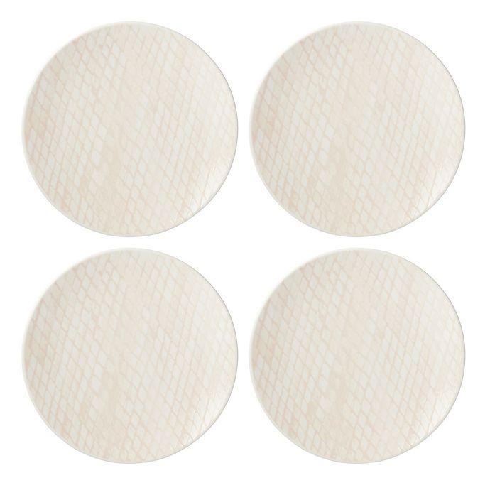 Alternate image 1 for Lenox® Textured Neutrals™ Dinner Plates in Blush (Set of 4)