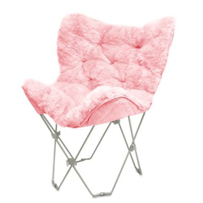 Magnificent Faux Fur Butterfly Chair Bed Bath Beyond Theyellowbook Wood Chair Design Ideas Theyellowbookinfo