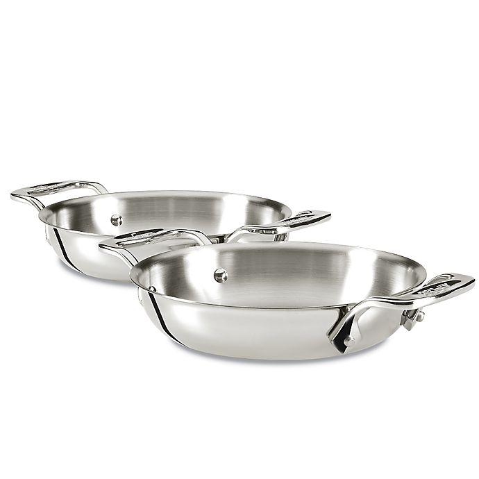 Alternate image 1 for All-Clad Stainless Steel Gratins in (Set of 2)