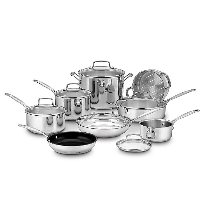Alternate image 1 for Cuisinart® Chef's Classic™ Stainless Steel 14-Piece Cookware Set