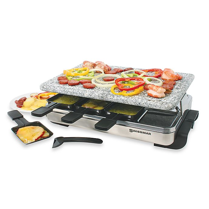 Alternate image 1 for Swissmar® 8-Person Stelvio Raclette Party Grill with Granite Stone