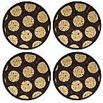 Thirstystone® Dark Cork Coasters with Gold Dots (Set of 4)