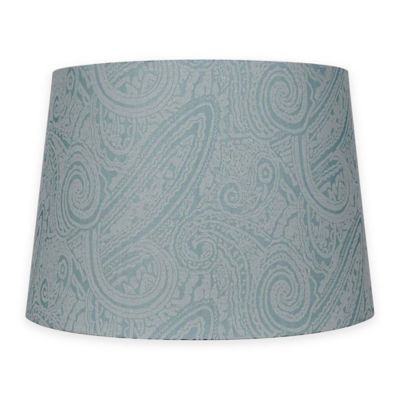 Patterned Hardback Fabric Lamp Shade In Teal Bed Bath