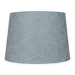 Patterned Hardback Fabric Lamp Shade in Teal
