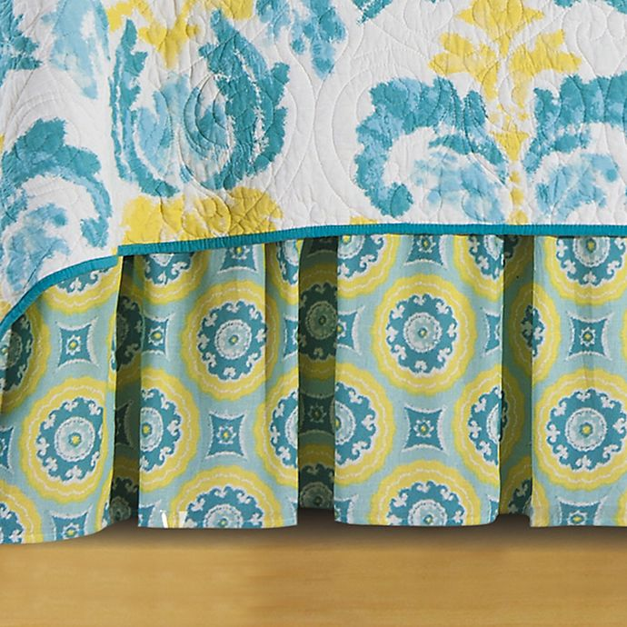Alternate image 1 for Delilah Twin Bed Skirt in Blue/Yellow