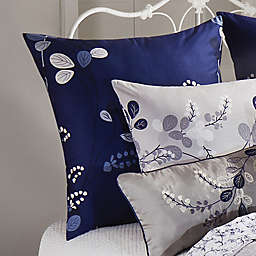 Geneva European Pillow Sham in Grey/Navy