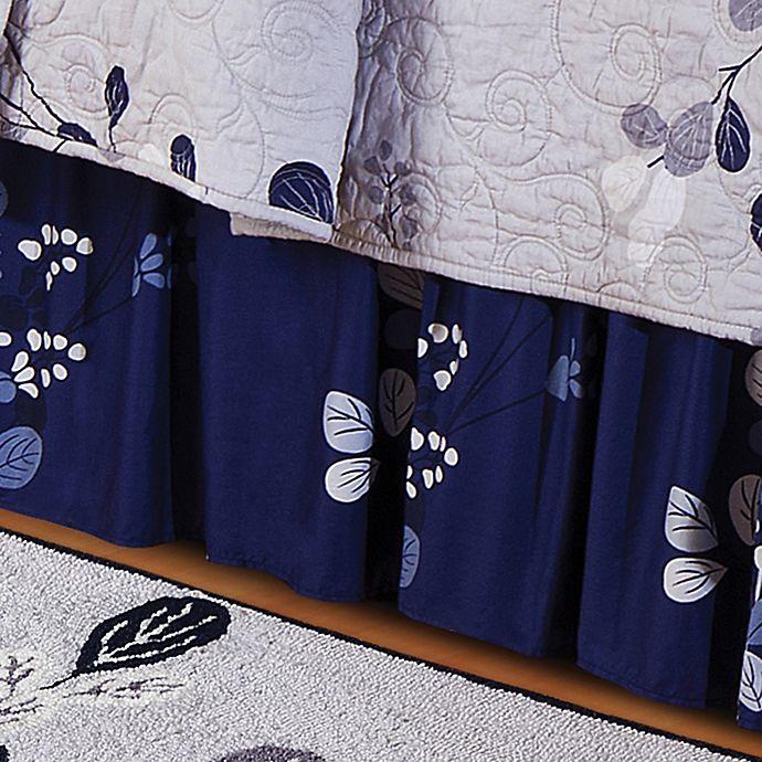 Alternate image 1 for Geneva King Bed Skirt in Grey/Navy