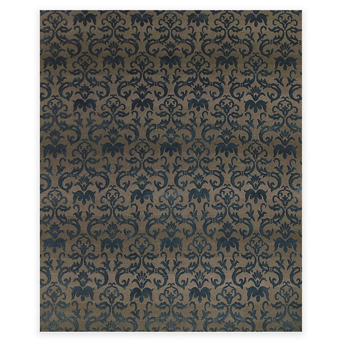Alternate image 1 for Feizy Kooshlame 2-Foot x 3-Foot Accent Rug in Grey/Teal
