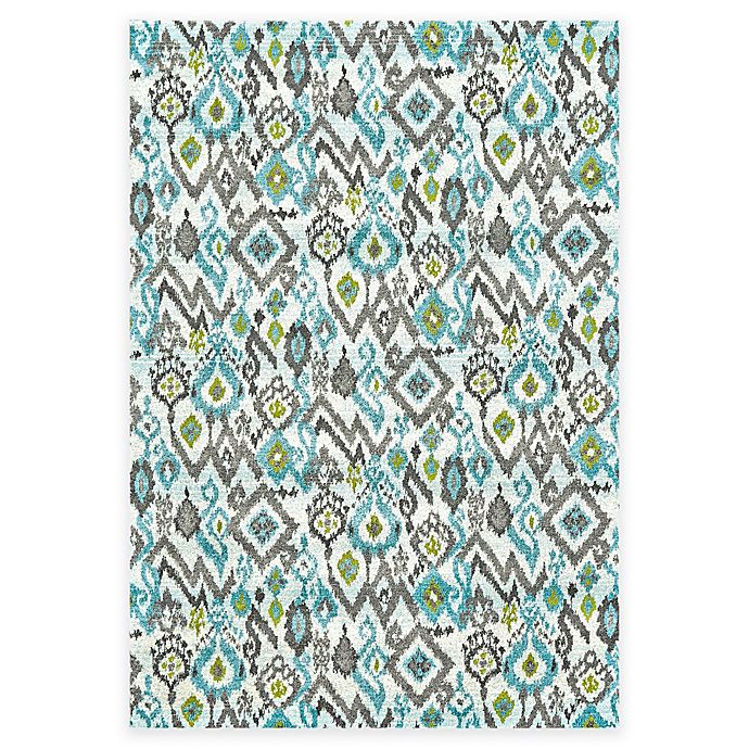 Alternate image 1 for Feizy Gara Ikat 2-Foot 2-Inch x 4-Foot Accent Rug in Blue/Grey