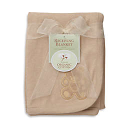 TL Care® Embroidered Swaddle Blanket made with Organic Cotton in Mocha