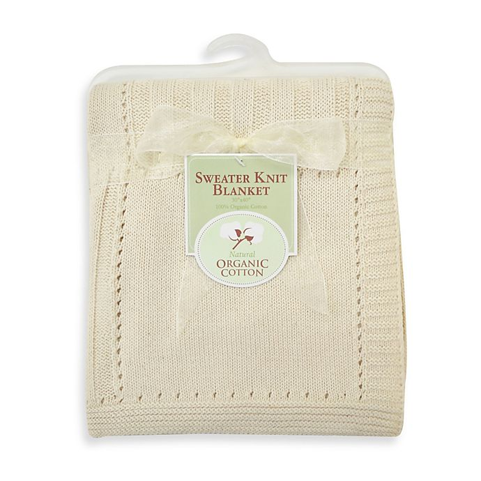 Alternate image 1 for TL Care® Sweater Knit Swaddle Blanket made with Organic Cotton in Natural