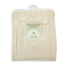 TL Care® Sweater Knit Swaddle Blanket made with Organic Cotton in Natural
