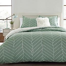 City Scene® Ceres 3-Piece Reversible Duvet Cover Set in Green