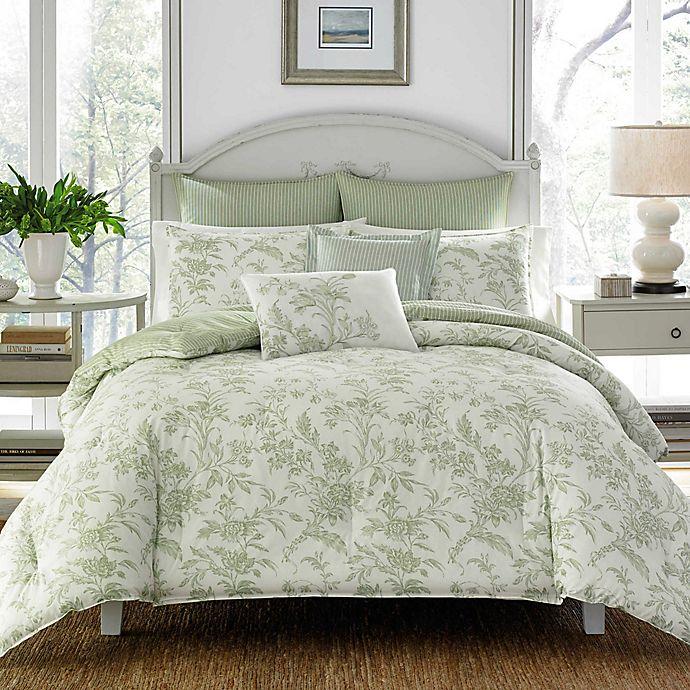 Alternate image 1 for Laura Ashley® Natalie 7-Piece Reversible Comforter Set
