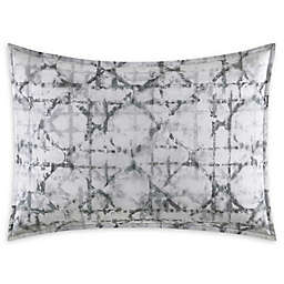 Vera Wang® Layered Geometric Standard Sham in Grey