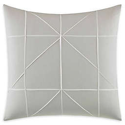 Vera Wang® Layered Geometric Sham in Grey