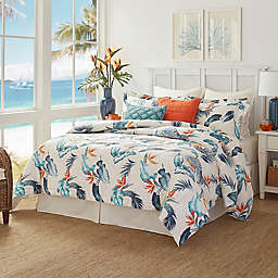 Tommy Bahama® Birdseye View California King Comforter Set in Coral