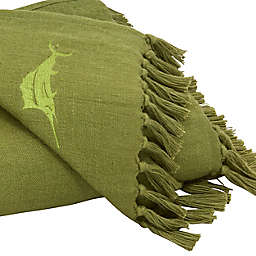 Canvas Fringe Throw in Palm