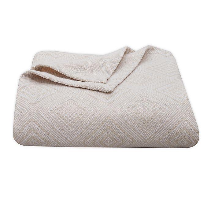 Alternate image 1 for Tommy Bahama® Palm Desert Cotton Blanket in Ivory