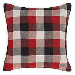 Ashwood Plaid Red Square Pillow